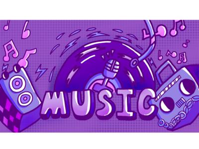 Music design illustration 插图