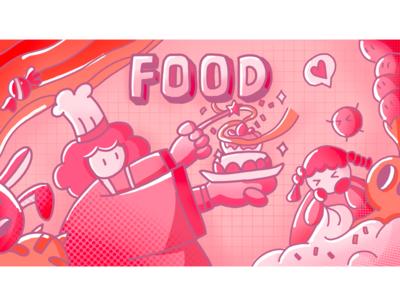 Food design illustration 插图