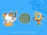 Vivavideo Brand Design-Sticker sticker brand design design illustration 插图