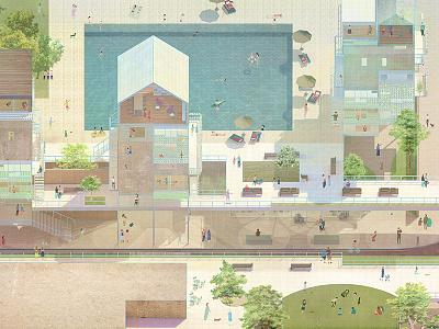 Architectural Graphic computer graphics computer art comic storytelling artworks designer artist architecture illustration artwork graphic designer graphic art design