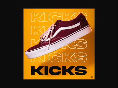 Kicks flyer illustration vector graphic design