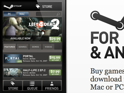 Steam for iPhone (2007)