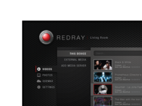 REDRAY - First Consumer 4K player UI