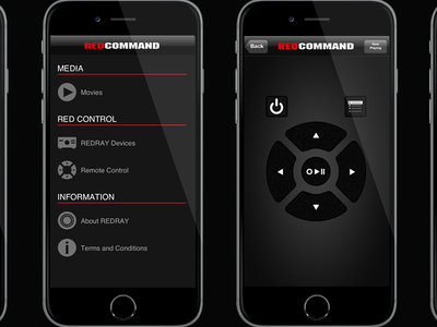 REDCOMMAND - REDRAY 4K Player Remote iOS app