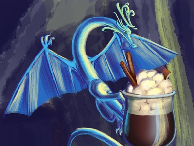 Sweet and dragon digital paint dragon sweet