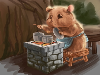 hamster cook cute cooking cook hamster