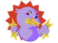 Bird angry