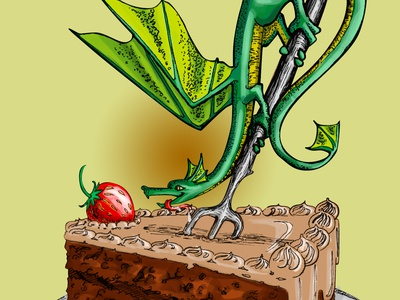 Dragon And Cake