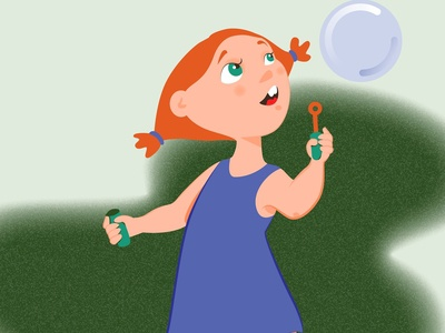 Girl and bubble