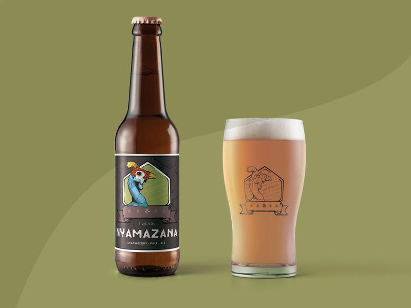 Beer Label Design label design logo drawing vector branding design illustration draw