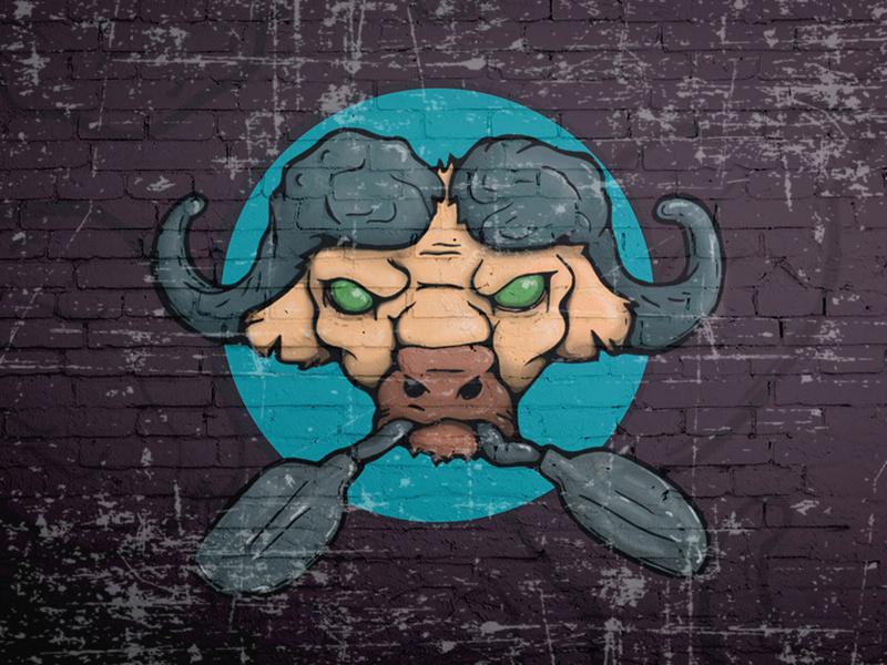 Buffalo Digital Illustration artist art digital painting graphic design buffalo digital art draw vector drawing illustration