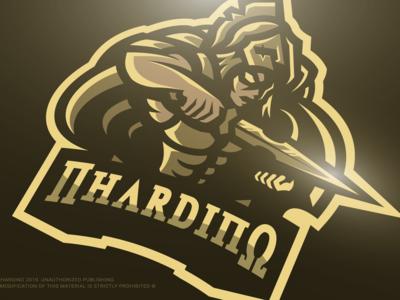 Nhardino Corp (c) : Achilles Demigod Gaming Mascot Logo Design