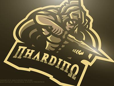 Nhardino Corp (c) : Achilles Demigod Gaming Mascot Logo Design apex fortnite csgo pubg gold logo design mascot design logo esports gaming soldier sparta greek grecian greek soldier spartan god demigod achilles