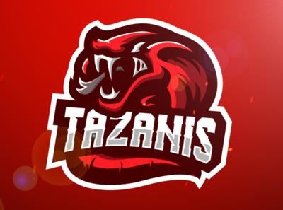 Snake Esports Mascot Logo Design (c) Tazanis (c)