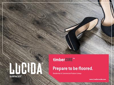 Lucida wooden wood product panels logo laminate interior house home flooring floor branding