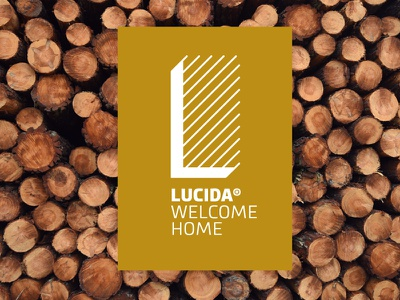 Lucida construction architecture technical drawing brown gold logo typography letter nature home flooring wood