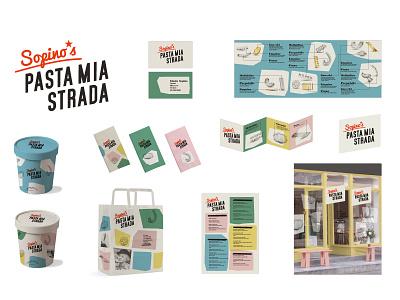Pasta Mia identity retro fifties italian shop local business food restaurant pasta logo graphic design branding