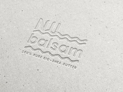 Nil Balsam identity cream cosmetic shea-butter modern river nile water typography letterpress branding logo