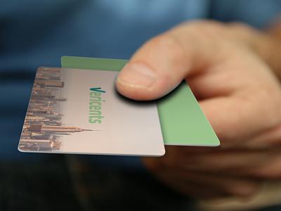 VERICENTS banking typography online payments hi-tech financial startup fintech business business card logo branding