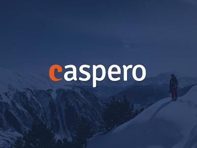 CASPERO symbol typography hi-tech startup online payments banking financial fintech logotype identity branding logo