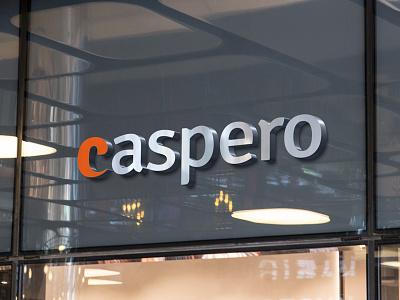 CASPERO online payments banking financial fintech startup typography logotype branding identity logo