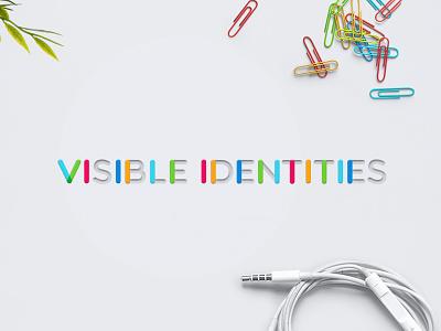 VISIBLE IDENTITIES white minimal visual identity multiply typography branding identity logo
