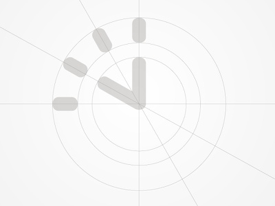 VERICENTS suggestion corporate design branding identity fin-tech speed time clock typography grid symbol icon logo