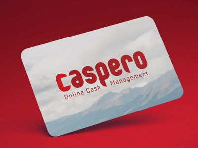 CASPERO identity typography logotype startup fin-tech financial banking online payment payment card credit card logo branding