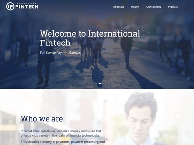 INTERNATIONAL FINTECH graphic design identity payment banking financial brand guidelines website typography icon logo branding fin-tech
