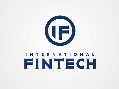 INTERNATIONAL FINTECH cash online payment corporate identity initials logotype symbol fin-tech banking typography icon branding logo