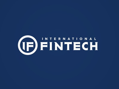 INTERNATIONAL FINTECH identity international cash solutions online payment banking fin-tech typography symbol icon logotype logo branding