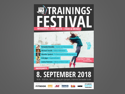 FITBOOK MoveJam 2018 tape art graphic language health sport workout grafikdesign graphic design festival training festival banner event ad ad poster ad advertising marketing event fitness plakat poster visual identity