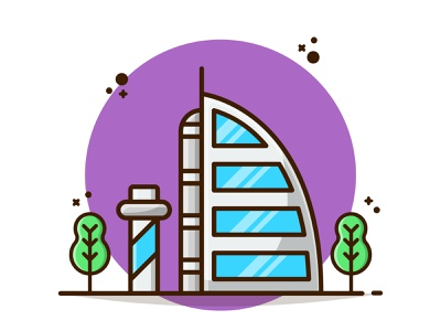 Landmark World Tour🌍✈️ landscape work from home home lockdown united arab emirates arab landmark animation tourism tour world landmark holiday dribbble vector flat icon illustration cartoon flat design design