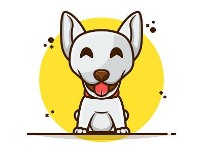 Mascot Logo Cartoon Cute Dog 😚🐶🐶 logodesign branding animal logo animal cute animal husky dogs smile funny cute dog vector illustration flat flat design cartoon design icon mascot logo