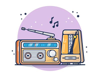Radio, Music Player, Tone, Radio Old, Retro Radio relax music speaker hz fm tone old radio music player radio flyer old retro vintage poster banner logo flat design illustration design cartoon