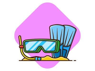 Summer Diving Equipment