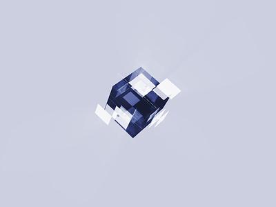 Magic Cube Visual For Ai Product light glass 3d aep visual magic cube ai design ae motion animation ui