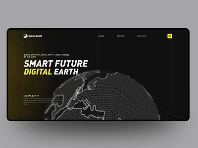 Digital Earth ux color ui design motiongraphics 3d animation 3d animation earth digital earth