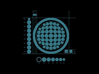 The DNT logo grid grid layout corporate identity visual identity logo mark logo design technical drawing grid logo grid proportions technical icon logo branding vector flat illustration design