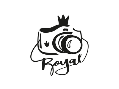 Royal Photo Studio visual identity designer logodesigns logo marks logodesign logo design visual identity design identity visual identity logo mark photographer logo photographer logo branding icon vector flat illustration design