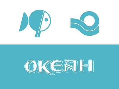 Ocean Restaurant tribute brand identity identity design identitydesign custom type typogaphy typedesign logotype logodesign logo design fish fish restaurant restaurant logo typography