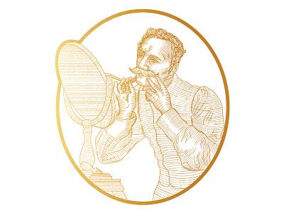 Mr Classic Barbershop branding retro design retro vintage illustration illustration digital illustration design illustration art illustrator art engraved illustration