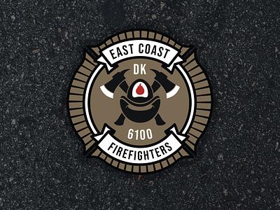 East Coast Firefighters firefighting firefighter fire patch patch design logo badge design badge logo badgedesign badges badge