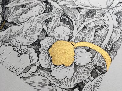 Gold flower 🌸