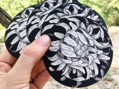 Sticky flower 🌸 sticker illustration