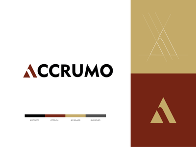 Accrumo Business Consultants - Logo Design graphic design illustration animation design vector web typography logo minimal branding