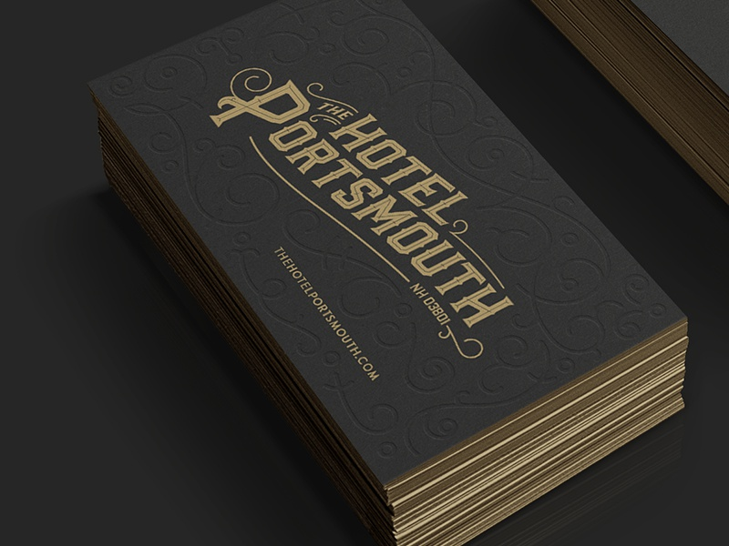 Business Cards, In Progress letterpress business cards type