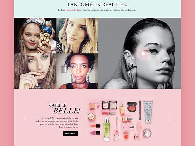 Pitch Comp web design website cosmetics lancome commerce cloud salesforce demandware ecommerce