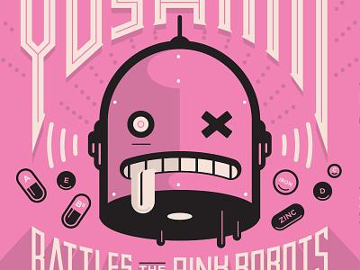 Yoshimi! robot illustration pink yoshimi
