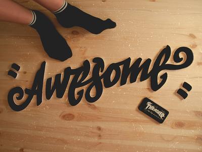 Awesome styrofoam =) awesome graffiti logo handwritten customtype typography type kraft handmade socks styrofoam foam